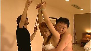 Hot Asian bondage masturbation scene