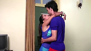 Sexy indian gf with boyfriend in room