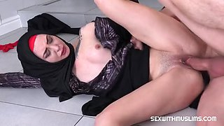 Tail in the bathroom muslim wife