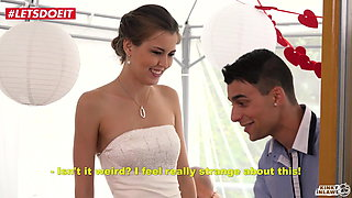 LETSDOEIT - Bride Gets Banged By STEP SON At Her Wedding