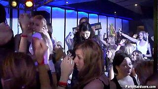 drunken girls get fucked on the dance floor