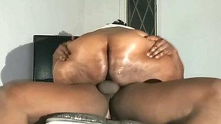 BBW Ebony Gets Hard Riding Creampie 3