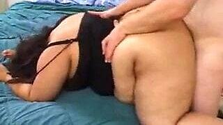 Bbw aunty has sex with me