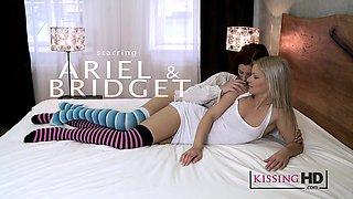 Kissing HD Hot young girls swap erotic romantic kisses