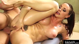 Brother Massage Body For Beautiful Sister