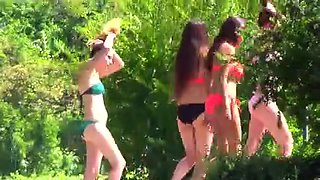 Candid - Group Of Legal Age Teenager In Bikini Arse Breasts Body
