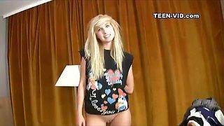 18yo blond Taylor first video casting