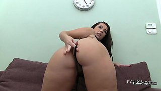 Amateur with huge booty fucking on casting