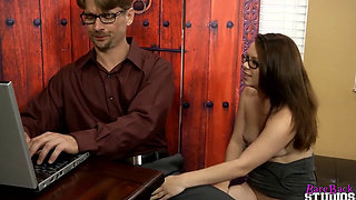 Nerdy Stepdaughter Keeps Seducing Her New Stepdad