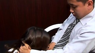 Perfect sex story along Asian secretary, Ibuki