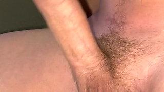 Stroking Big cock and balls