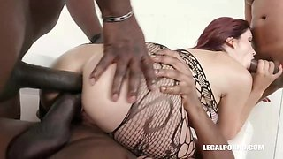 Horny black guys are eager to fuck Amina Danger after she sucks their rock hard cocks