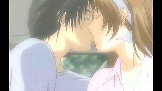 Romantic anime sex in the car cute teen rides a dick