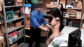 Sexy Sisters Have Teen Pussies Punished in Backroom Office