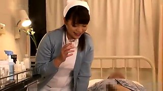 Naughty Japanese nurses in uniform feed their hunger for cum