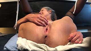 Exciting Housewife Masturbates With Black Rabbit And Sodomy Beads Mother I´d Like To Fuck Granny 60 Year