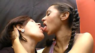 Brazilians Lesbian Babes Giving A Kiss