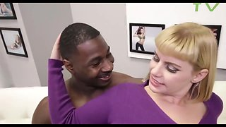 Big titted blonde, Tiff has hooked up with a black hunk, just to get fucked hard