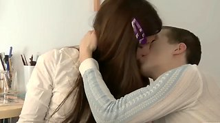 A couple students learn and fuck
