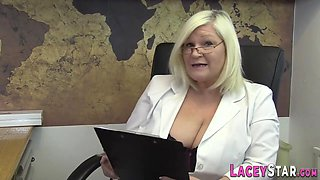 Grannny doctor rimmed and anally fucked