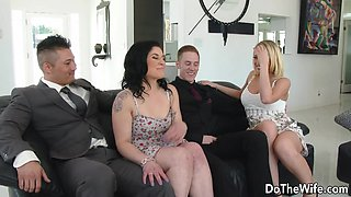 Swinger Wife Kagney Linn Karter Bangs Another Guy in Front of Her Husband