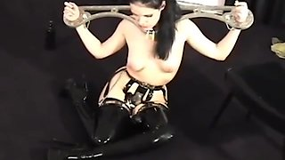 Slavegirl Is Locked Into A Chastity Belt And Dominated By Her Mistress