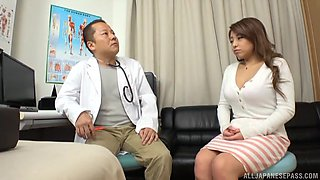 Pretty brunette hottie gets her pussy banged by a doctor