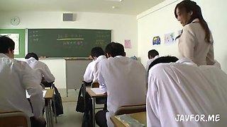 Busty Female Teacher Takes A Creampie Gang Bang JULIA