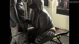 pawg soccer mom gets bbc training at gym