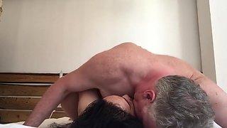 Thai Big Tits BBW fucked rough by British Bulld