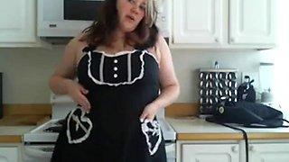 Bbw in the kitchen