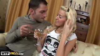 Getting a little drunk and fucking her