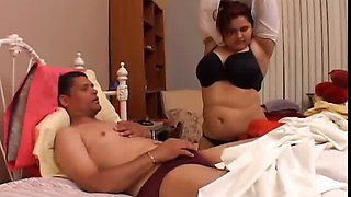 Beautiful big tits brunette BBW loves to fuck