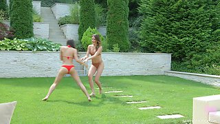 Two seductive babes are eating each others wet yummy holes