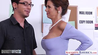 Elegant woman Veronica Avluv gets nasty in the office
