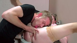 Sunny Lane plowed by a big cock in the bathroom
