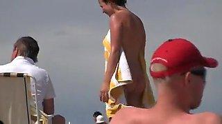 cute girl group blowjob at cap d agde