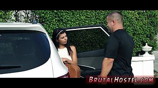 Brutal bound anal Poor lil Latina teen Gina Valentina is truly not having a fine