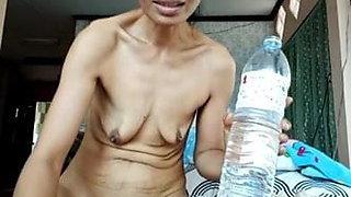 Thai mom fingering pussy