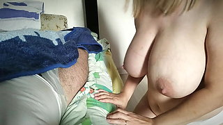 Daughter jerks off father