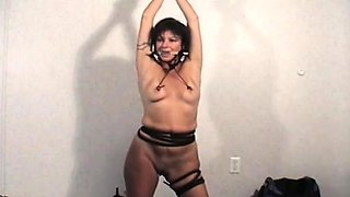 Seductive floosy is playing with herself just for fun
