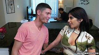 Latina wife cheats with stepson