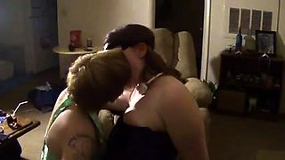 Horny couple pleasuring their new girlfriend blindfolded