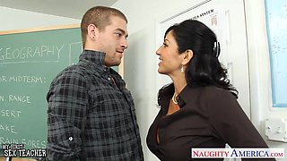 Sexiest 50 yo teacher Tara Holiday has an affair with one of her student