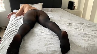 Guy wanted sex so much that he tore pantyhose on sleeping GF