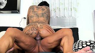 german big tits tattoo mature milf seduced rimjob massage