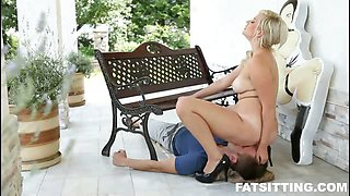 Fat-assed Jana dominates a guy