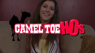 18 Year Old Hottie Sports a Juicy Cameltoe That Gets Drilled