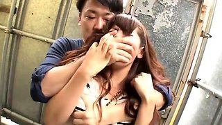 Asian babe has orgasm from fingering