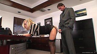 Sexy Secretary Rides Her Boss' Big Cock